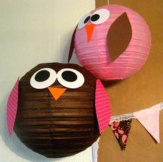 Paper Owl Lanterns