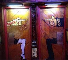 Resultado de imagen para puertas de baño carteles