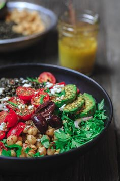 All-star Mediterranean Grain Bowls Recipe with lentils and chickpeas. Bright, colorful and flavor-packed meal for any day of the week! Filled with much-needed nutrition. Recipe comes with a blueprint for how to build healthy grain bowls your way!