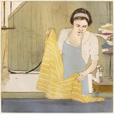 Ellen Heck. The Bath and the Towel. 2011. Woodcut and drypoint. 7/9. 16 x 16 inches.