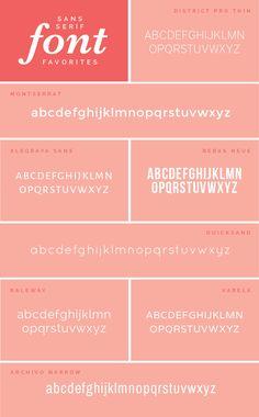 Sans-Serif Designer Fonts