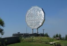 The Big Nickel - Sudbury, Ontario. Home Icon, O Canada, Roadside Attractions, Small Places, Google Images, Worlds Largest, Ontario, Places To Travel, Places Ive Been