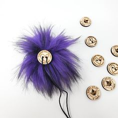 Violet Purple Faux Fur Pom Poms – Warehouse 2020 More Code, Faux Fur Pom Pom, Black Nylons, Pom Poms, Warehouse, Purple, How To Make, Handmade, Color