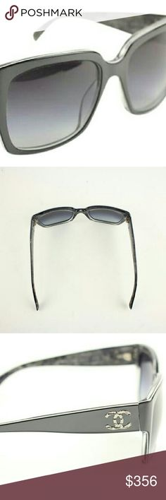 """CC 5220 Sunglasses 63CCA723 This item will ship immediately!!  Previously owned.  Style: 5220  Made In: Italy  Measurements: Length: 5.5"""" Width: 2.1"""" Height: 0.1""""  Signs of Wear: Scratches on the lenses and a slightly loose screw on the temple area that can be adjusted.  This item does not come with any other extra accessories.  Please review measurements and photos to see if this is the perfect item for you. CHANEL Accessories Sunglasses"""