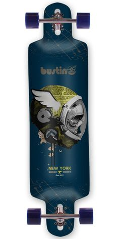 Bustin Boards Ibach 37 Longboard Skateboard Complete This is one of Bustin's best boards for downhill racing, speedboarding, and freeriding!