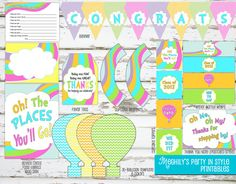 Oh The Places You'll Go GRADUATION party package by Meghilys, $15.00 (instant download)