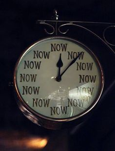 Be present. Procrastinate and loose. Be în the here and now