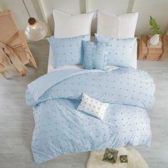 Brooklyn Shabby Chic 100% Cotton Jaquard 7 Piece Duvet Cover Set W/ Al – English Elm Blue Comforter Sets, Duvet Sets, Duvet Cover Sets, Light Blue Bedding, Twin Comforter, Brooklyn, Inspiration Design, Room Inspiration, Design Ideas