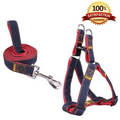 SUMCOO New Update Version Adjustable NO-pull cat Dog and Cat Leash Harness set with Martingale Bark Collars for Small/Medium/Large Dogs and Cats *** Quickly view this special cat product, click the image : Cat Collar, Harness and Leash