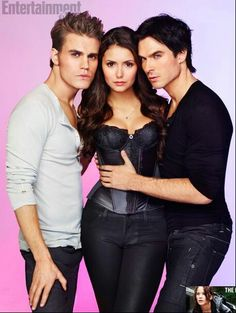 Nina drobrev is one lucky girl lol,Paul Wesley ,and Ian somerhalder