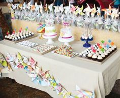 Pinwheel Party // Hostess with the Mostess®  Colorful birthday party ideas and inspiration Invitations, decorations, cake, cupcakes, favors, printables, dessert table, candy buffet
