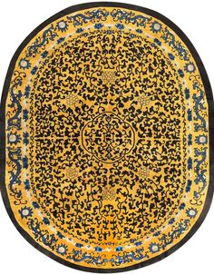 Antique Oval Chinese Rug 48215
