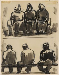 Figure Studies (Artist: Josef Herman)