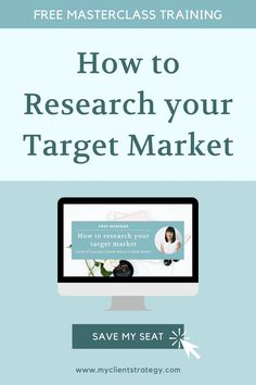 Register today for this free marketing training: How to Research your Target Market. You'll learn how to research your ideal clients (even if you don't know where to find them), and what you need to know about your target market to grow your service business. || dream client || ideal client avatar || finding ideal clients || target audience || finding your niche Marketing Budget, Content Marketing Strategy, Small Business Marketing, Online Business, Writing A Business Plan, Business Ideas, Marketing Plan Template, How To Get Clients, Thing 1