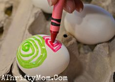 A Thrifty Mom - Extreme couponing the right way » Melted Crayon Easter Eggs ~ HOW TO DYE EASTER EGGS WITH MELTED CRAYONS #Easter