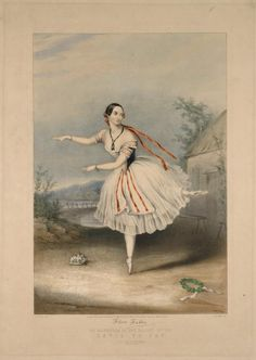 NYPL Free Images-Flora Fabbri (fac. sig.) as Mazourka in the ballet of The devil to pay. M. W. Child delt. J. Brandard. Printed by M. & N...  [Diable à quatre.] (February 10th, 1846)