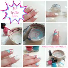 """Hairspray and High Heels: """"A Jersey Girl's Guide to Beauty"""": DIY Splatter Nails"""