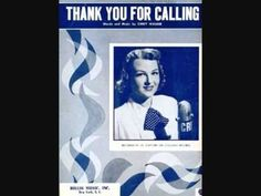 "1954 ""Thanking You For Calling (Good Bye) by Jo Stafford"