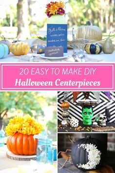 Need a fun centerpiece to leave on your table for the Halloween holiday season? Get 30 Easy to Make Halloween Centerpieces ideas!!
