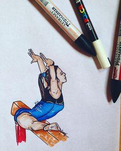 #MINI #elisameneghini #love #lovely #leotard #draw #drawing #paint #pantone #passion #teamitaly #italy #francy #gym #love #colors #beam #pantone #beam #body #balancebeam #draw #drawing #paint #painting #promarker #gymnast #gymnastic #sketch #art #gymnastdraw #gymnastpaint