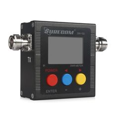 VSWR. Forward and reflected power direct digital readout, without any calibration.    Maximum measurable power range up to 120W.    low insertion loss (0.3 decibels or less) structure allows it to be permanently connected.    Build in
