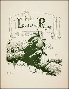 Frank Frazetta's Lord of the Rings  Published by Middle Earth, 1975.