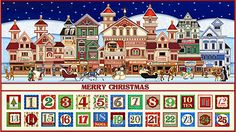 "Santa Claus is Coming to Town - Advent Calendar - 24""x 44"" PANEL"