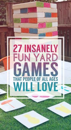 27 Insanely Fun Yard Games That People Of All Ages Will Love (vbs outdoor games people) Fun Outdoor Games, Backyard Games, Outdoor Activities, Outdoor Toys, Outdoor Play, Party Outdoor, Indoor Games, Outdoor Jenga, Outdoor Twister