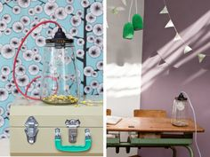 PickleLight by RESCUED! Recycle / design / ecodesign / interior / lamp / storage / inspiration / mason jar / diy / table / recycle / gadget / school desk