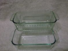 Pyrex Clear Glass Bread Loaf Baking Dish Lot of 3 One Mse 213 R 1.5 Qt Lot of 3