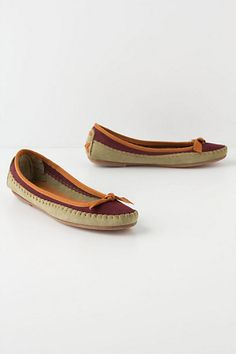 Moccasin Ballet Flats from Anthropologie to pair with dream skinny jeans. #dreamindenim