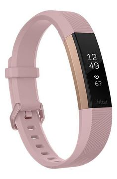 Shop Fitbit Alta HR Activity Tracker + Heart Rate (Small) Soft Pink/Rose Gold at Best Buy. Find low everyday prices and buy online for delivery or in-store pick-up. Fitbit Alta, Pink Fitbit, Best Fitness Watch, Fitness Watches For Women, Waterproof Fitness Tracker, Fitness Wristband, Gold Rate, Cool Things To Buy, Shopping