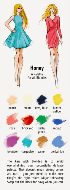 12 ideal color combinations for your hair and clothes