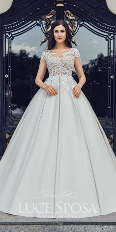 Luce Sposa Wedding Dresses 2018 And#8211; Magnificent Collection ★ See more: https://weddingdressesguide.com/luce-sposa-wedding-dresses-2018/ #bridalgown #weddingdress