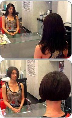 More beautiful bobbed haircuts! Edgy Haircuts, Girls Short Haircuts, Short Bob Hairstyles, Cool Hairstyles, Long To Short Hair, Long Hair Cuts, Short Hair Styles, Bob Styles, Sexy Bob Haircut