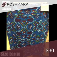 LulaRoe cassie skirt size large new with tags LulaRoe Cassie Large Skirt New With Tags (stretchy stylish comfortable) Make an offer or bundle!  The Cassie skirt takes the fancy up a notch. This pencil skirt's waistband flatters all body types and enables the wearer to adjust the length as needed. You can wear this skirt all year long. LuLaRoe Skirts