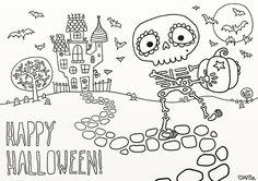 coloring halloween pictures - Buscar con Google