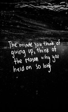 Why you held on so long...