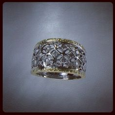 18kt Yellow  Gold, ring with diamonds, handmade, pierced and engraved by Paolo Brunicardi for Project Goldsmith