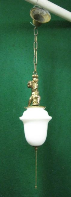 Antique Cherub Angel Light Fixture Shabby (Chic)  #1216-12