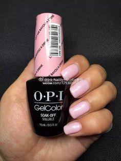 OPI New Orleans let me bayou a drink spring 2016 a light blush pink with a slight shimmer