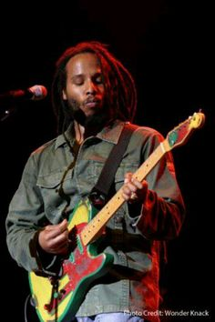 Ziggy Marley. I've seen him in concert and he played this guitar. Beautiful.