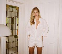 "shopredone: ""Pssst, we've got true white vintage reconstructed Levi's denim shorts. But only we've got them on #shopredone """