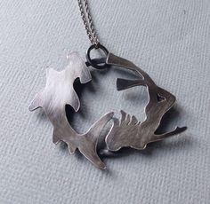 Sterling Silver Hammerhead Shark Pendant Oxidized by TrailAndTide