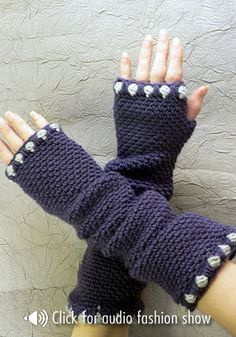 Charleston Fingerless Slouch Gloves - free crochet pattern