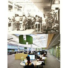 What was once a space for animation in 1972, is now a where our state of the art learning commons lives! Share your @sheridan_college days by using #SheridanTBT!