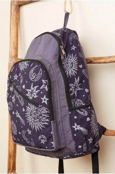Stars and Sun Blue Backpack