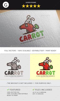 Carrot Logo Design Template - Animals Logo Design Template Vector EPS, AI Illustrator. Download here: https://graphicriver.net/item/carrot-logo/18741502?ref=yinkira
