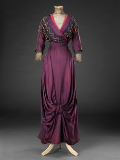 Dress ca. 1912  From the John Bright Historic Costume Collection