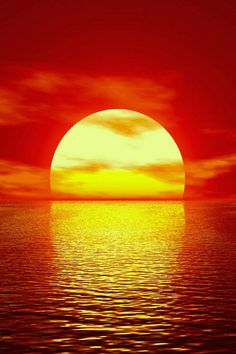 Red sunset.